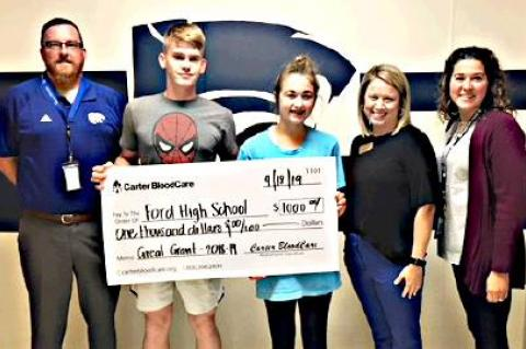 FHS receives grant from Carter BloodCare