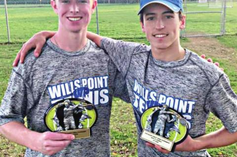 Holden Fletcher and Dakota Willis played a key role in Wills Point's doubles' dominance at Kilgore, winning first overall in their division.