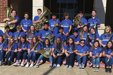 Wills Point sweeps Jr. High All-Region Band