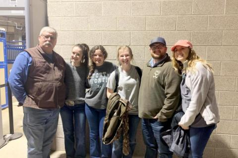 Wills Point High School Students Receive Scholarships in Calf Scramble