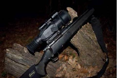 "Photo by Luke Clayton                                Here's Luke's hog hunting rig. The digital ""Wraith"" scope by Sightmark is great for day and night hunting."