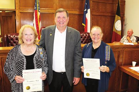 Proclamations approved by commissioners