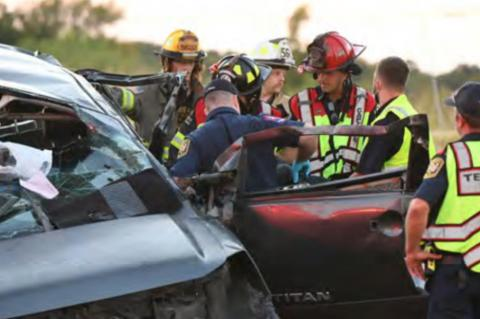 TVFD responds to rollover crash with extrication
