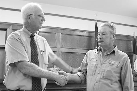 Dover recognized by Van Zandt County Commissioners