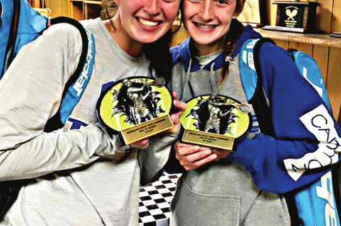 Abby Kreil and Sawyer Sewell placed first overall in the B doubles division of the Kilgore Invitational.
